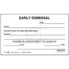 19A  - Early Dismissal