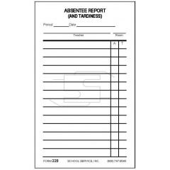 229 - Absentee Report (and Tardiness)