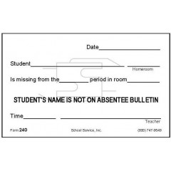240 - Name Not on Absentee Bulletin