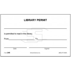 24B - Library Permit