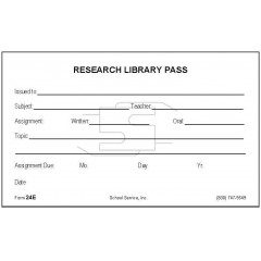 24E - Research Library Pass