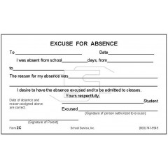 2C - Excuse for Absence