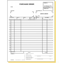 33E4 - Four-Part Purchase Order