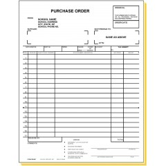 33E4SP - Four-Part Purchase Order w/Imprint & Numbering