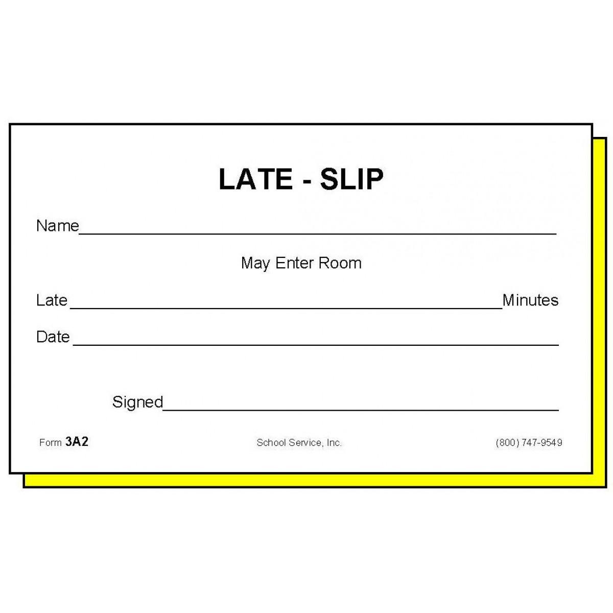 school slip