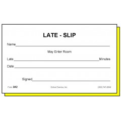 3A2 - Two-Part Late Slip