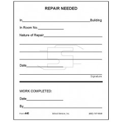 446 - Repair Needed (Large Size Form)