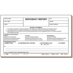 45GP - Deficiency Report w/Parent's Signature