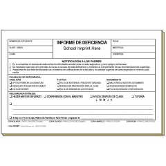 45GS1 - Deficiency Report - Bilingual