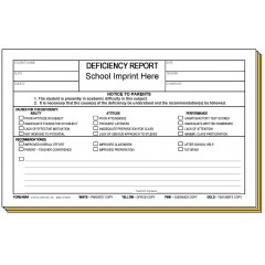 45R4 - Four-Part Deficiency Report w/School Imprint