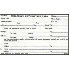 52D - Emergency Card w/Aspirin