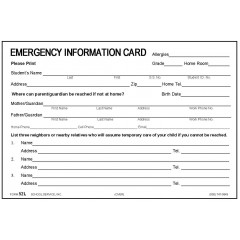 52L - New Large Emergency Card w/Medication