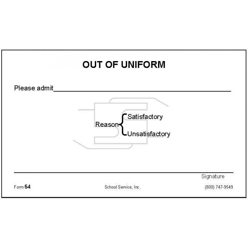 54 - Out of Uniform - Padded Forms