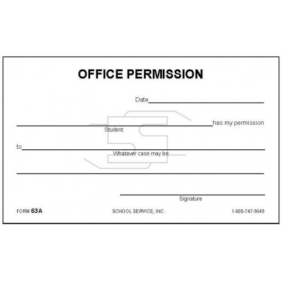 63A - Office Permission - Padded Forms