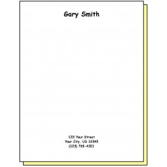 68H2 - Two-Part Personalized Note Pad w/Name & Address
