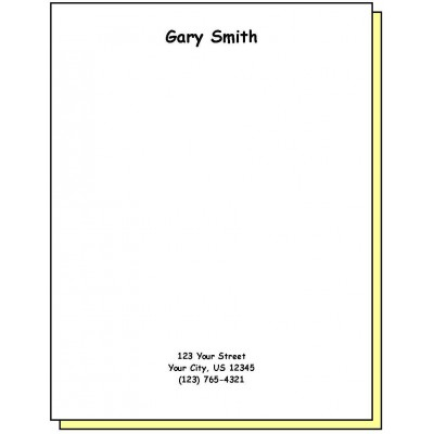 68H2 - Two-Part Personalized Note Pad w/Name & Address - Carbonless Forms
