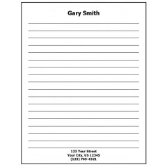 68J - Lined Paper Personalized Note Pad w/Name & Address
