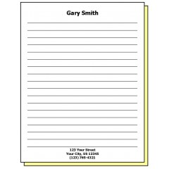 68J2 - Two-Part Lined Paper Personalized Note Pad w/Name & Address