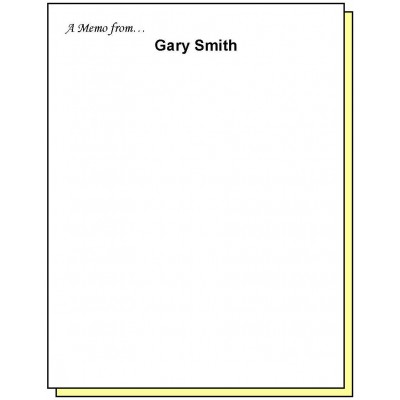 68K2 - Two-Part A Memo from Personalized Note Pad - Carbonless Forms