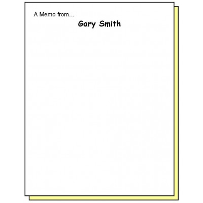 68L2 - Two-Part A Memo from Personalized Note Pad - Carbonless Forms
