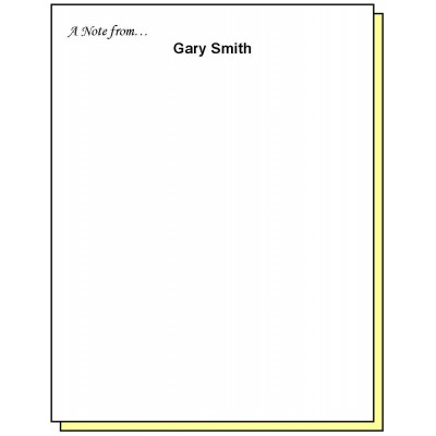 68N2 - Two-Part A Note from Personalized Note Pad - Carbonless Forms