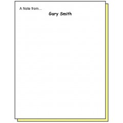 68P2 - Two-Part A Note from Personalized Note Pad
