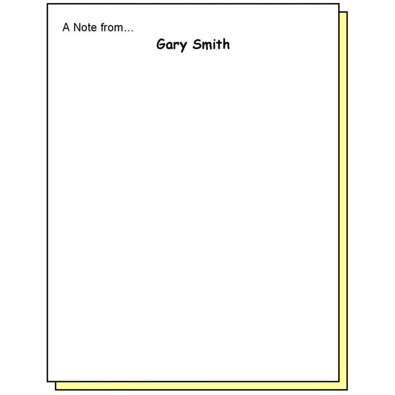 68P2 - Two-Part A Note from Personalized Note Pad - Carbonless Forms