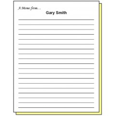 68R2 - Two-Part Lined Paper A Note from Personalized Note Pad