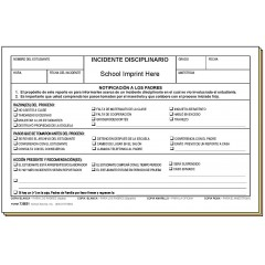 73BS1 - Disciplinary Referral - Bilingual