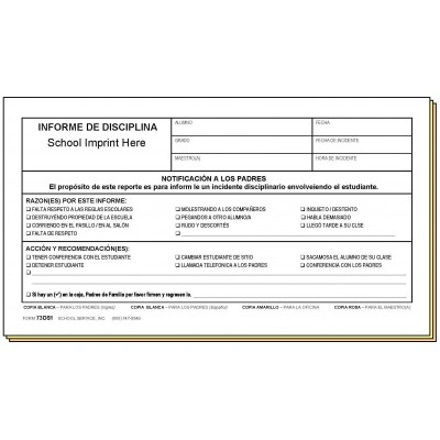 73DS1 - Conduct Referral - Bilingual - Carbonless Forms