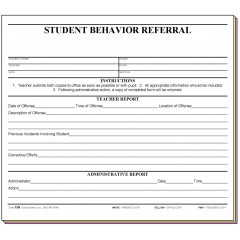 73H - Student Behavior Referral