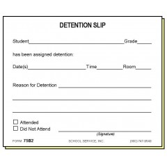 75B2 - Two-Part Detention Slip