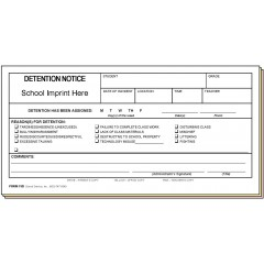 75D - Detention Notice w/School Imprint