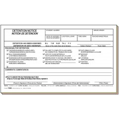 75DB - Detention Notice - Bilingual
