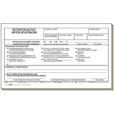 25 b sta detention slips id erna p pinterest detention for Detention notice template