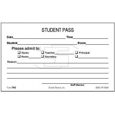 79G - Student Pass - Padded Forms