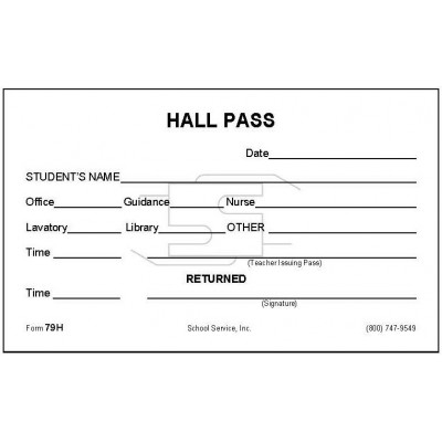 79H - Hall Pass - Padded Forms