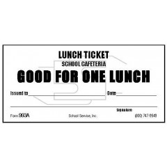 933A - One Lunch Ticket