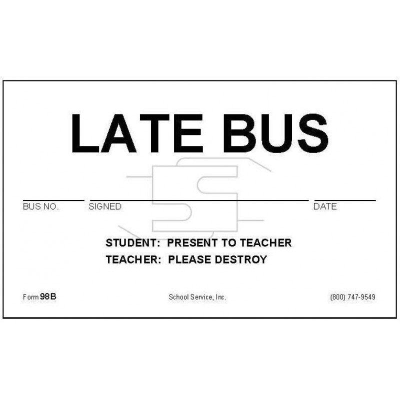 98B - Late Bus - Padded Forms-S
