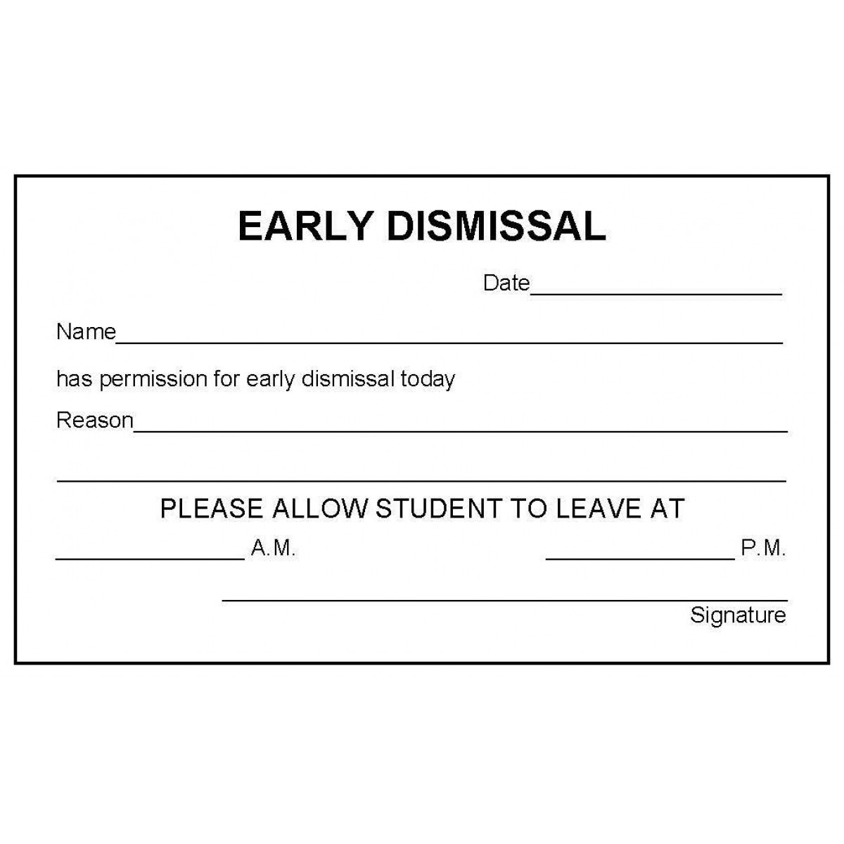 how to leave school early without permission