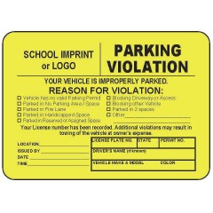 B56 - Parking Violation Sticker Book