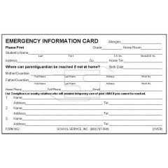 N52 - New Emergency Card w/No Optional Info
