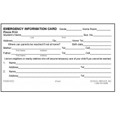 R52C - Rolodex Emergency Information Card