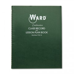 SA-910-16 - WARD Combination Class Record & Lesson Plan Book