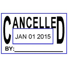 ASD103 - Cancelled Date Stamp