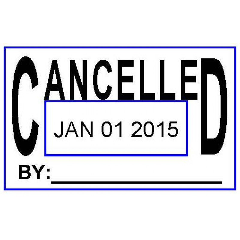 ASD103 - Cancelled Date Stamp - School Office & Business Office Stamps