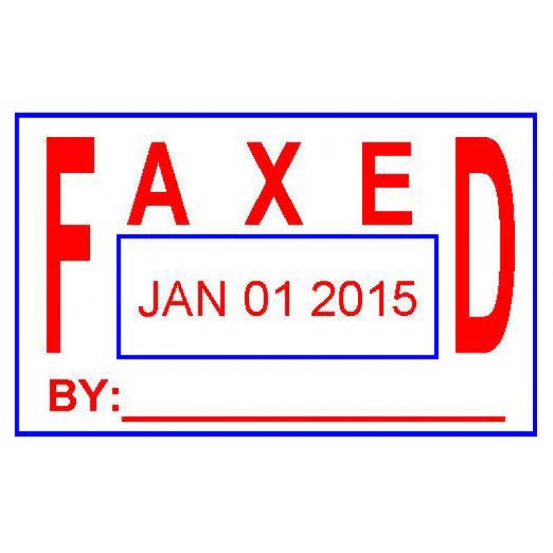 ASD105 - Faxed Date Stamp - School Office & Business Office Stamps
