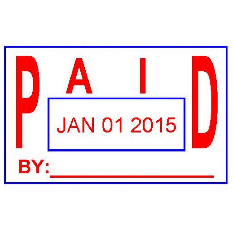 ASD106 - Paid Date Stamp - School Office & Business Office Stamps