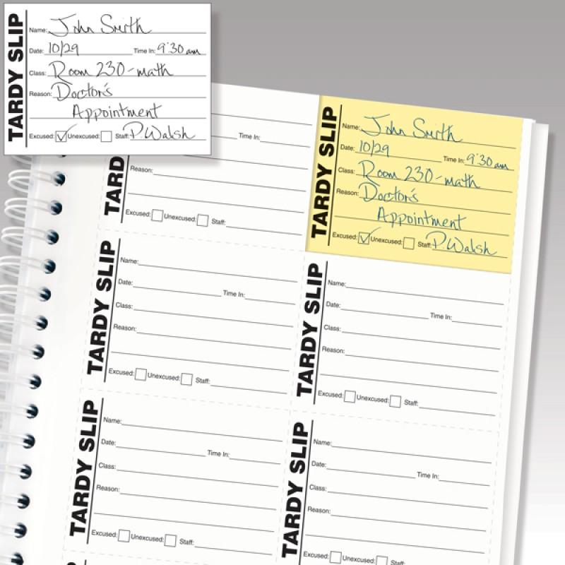 901-SK - Stock Tardy Slip Book - Book Forms