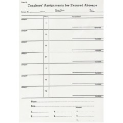 90 - Teacher's Assignments for Excused Absence